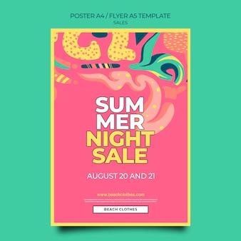 Вертикальный шаблон плаката для летней распродажи