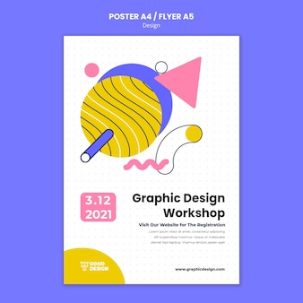 Vertical poster template for graphic design