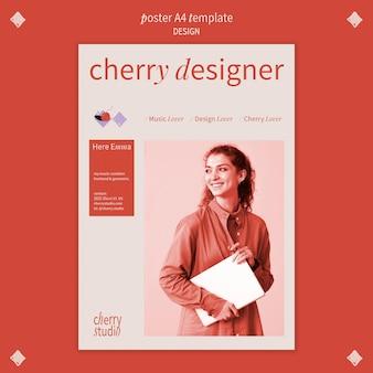 Modello di poster verticale per graphic designer