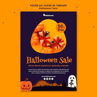 Vertical poster template for halloween sale