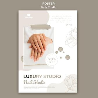 Modello di poster verticale per salone di bellezza
