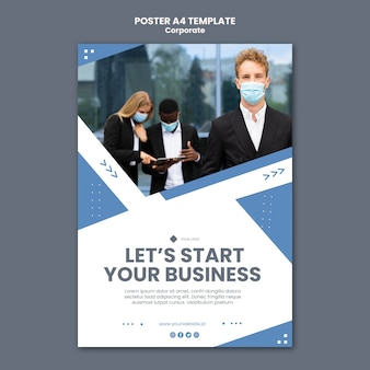 Vertical poster template for professional business