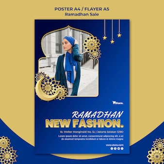 Vertical poster template for ramadan sale