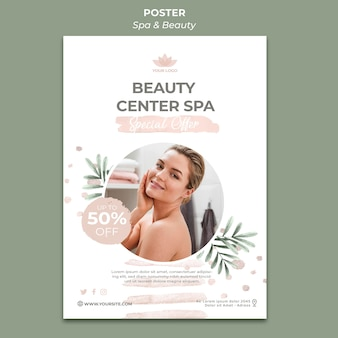 Vertical poster template for spa and therapy