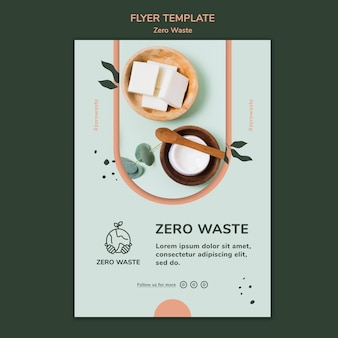 Vertical poster template for zero waste lifestyle