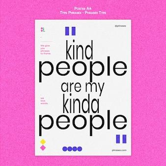 Poster verticale per frasi tipo