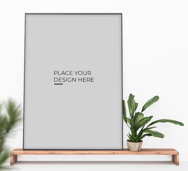 垂直シーンのポスターデザインのモックアップ