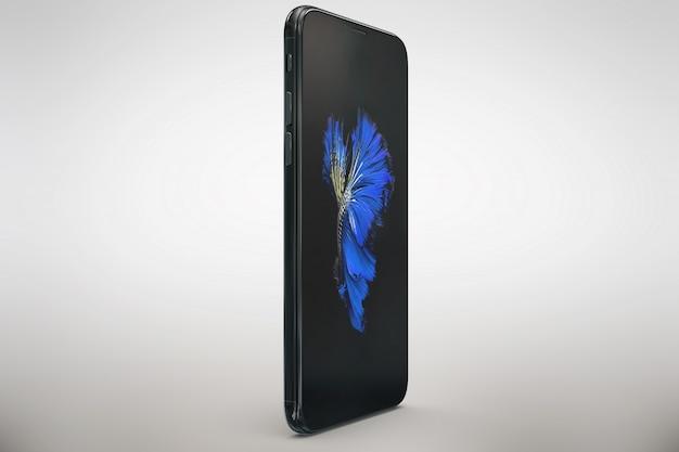 Вертикальный смартфон макет бокового обзора