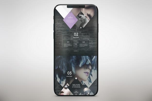 Vertical smartphone mock up