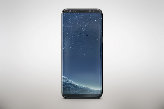 Vertical smartphone mock up