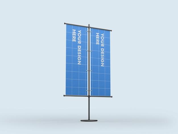 Вертикальная подставка для двойного баннера