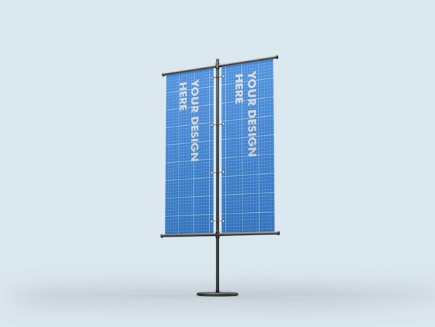 Vertical stand double banner mockup