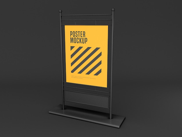 Vertical stand poster mockup