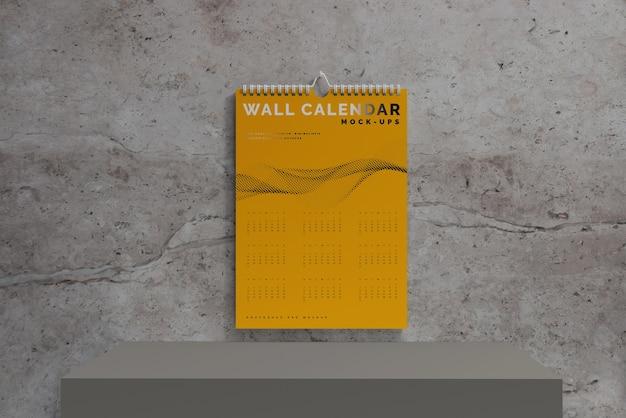 Vertical wall calendar mockup