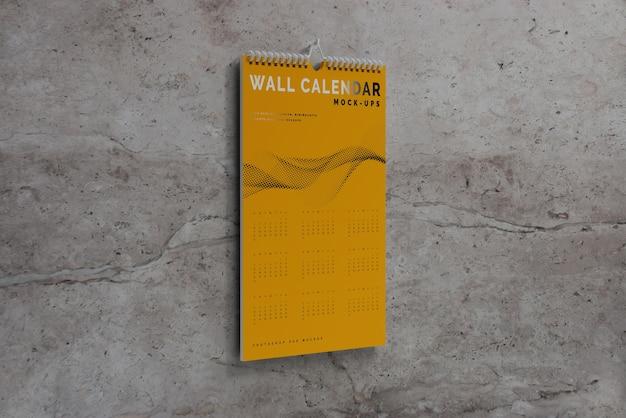 縦壁カレンダーモックアップ