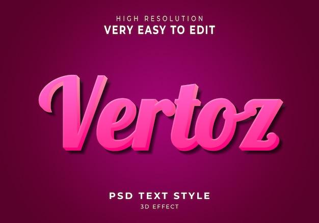 Vertoz современный текстовый эффект