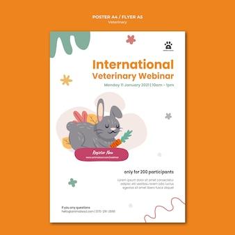 Poster modello clinica veterinaria
