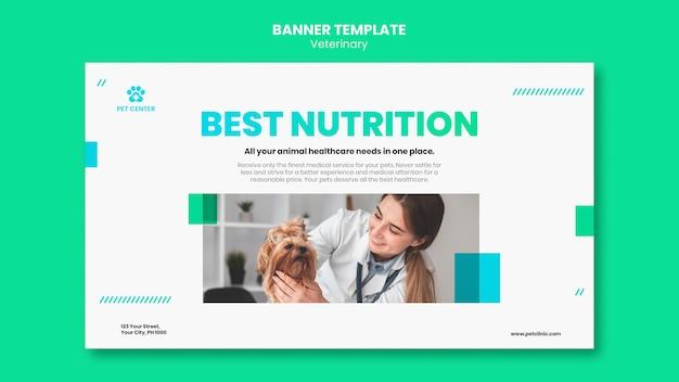 Modello di banner pubblicitario veterinario