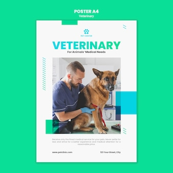 Veterinary ad poster template