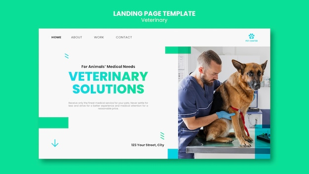 Veterinary ad template landing page