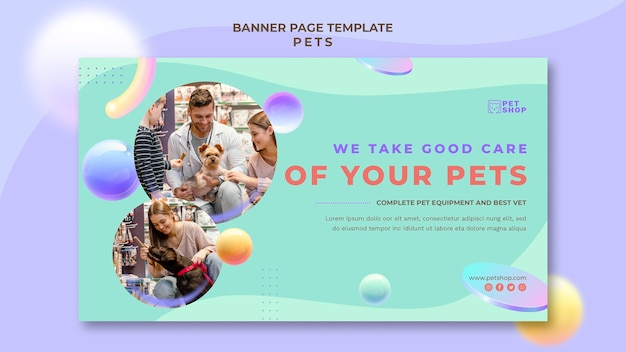 Veterinary banner template Free Psd