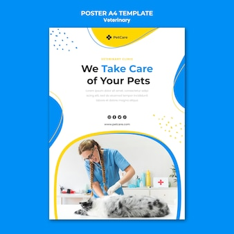 Veterinary clinic poster template