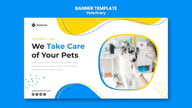 Veterinary clinic template banner