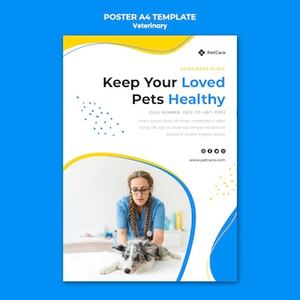 Veterinary clinic template poster