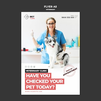 Veterinary flyer template