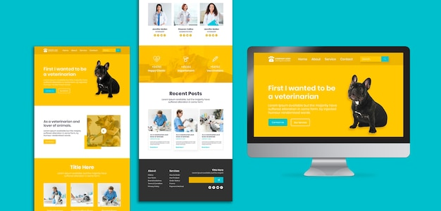Veterinary landing pages concept