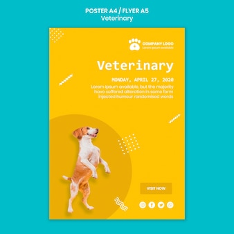 Veterinary poste template concept