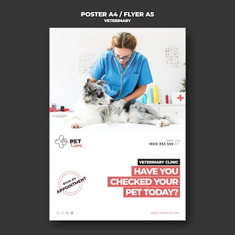Veterinary poster template