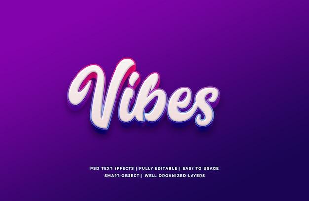 Vibes 3d стиль текста эффект премиум psd