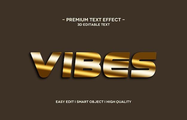 Шаблон эффекта стиля 3d-текста vibes