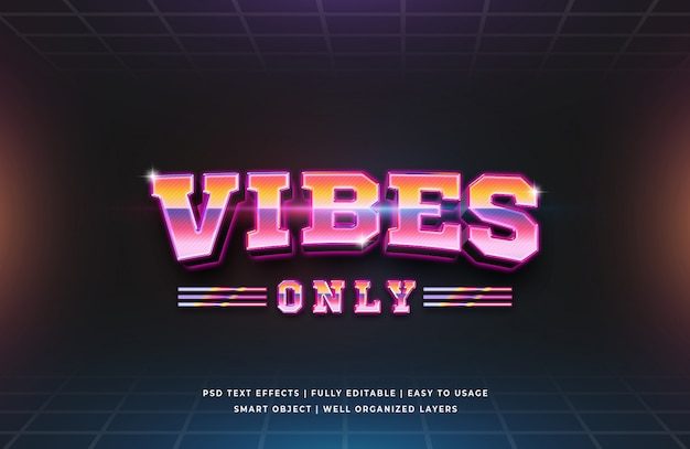 Vibes only text effect