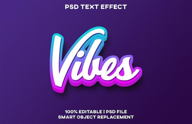 Текстовый эффект vibes