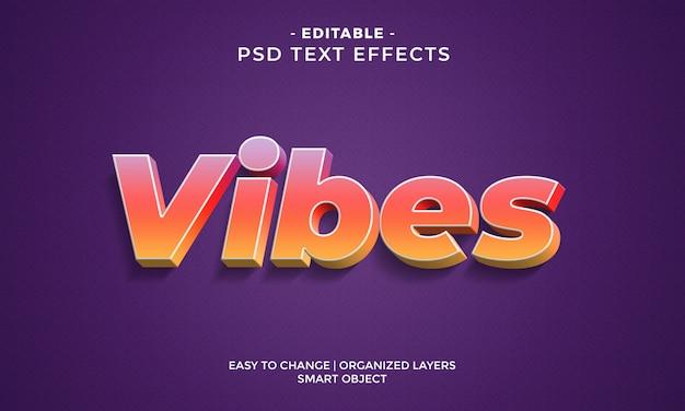Современный красочный текстовый эффект vibes