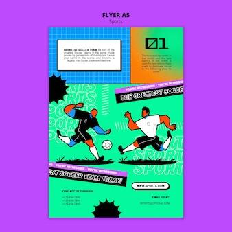 Modello di volantino di calcio illustrazione vibrante