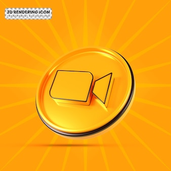 Video 3d rendering icon png