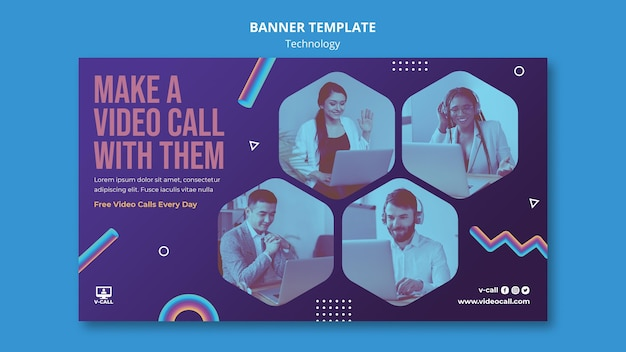 Video call banner template