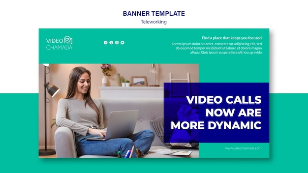 Video calls now are more dynamic banner template