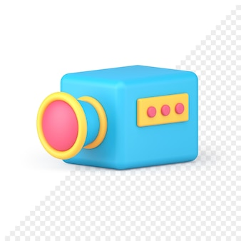 Video camera 3d icon