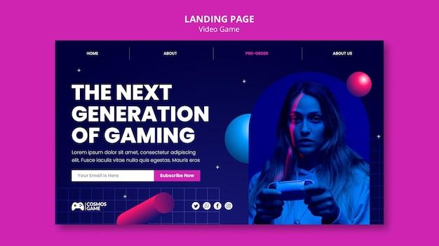 Целевая страница видеоигры