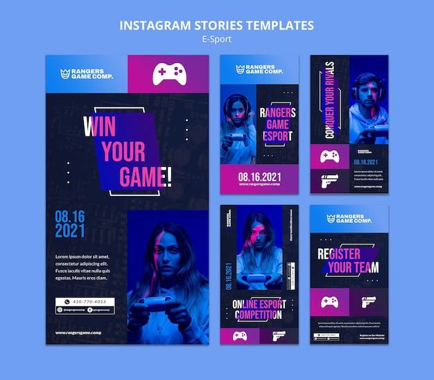 Video game player instagram stories