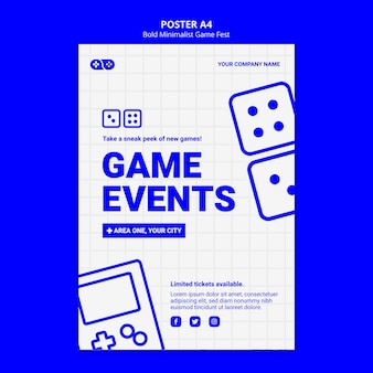 Video games jam fest poster template