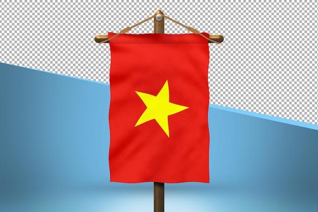 Vietnam hang flag design background