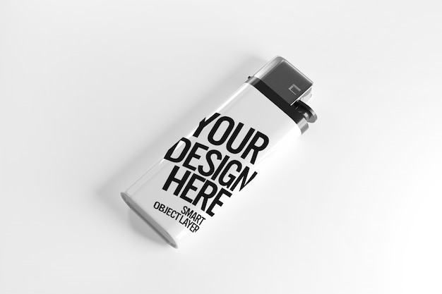 View of a lighter mockup