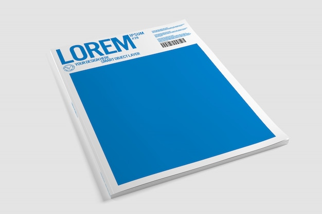 View of a magazine cover mockup