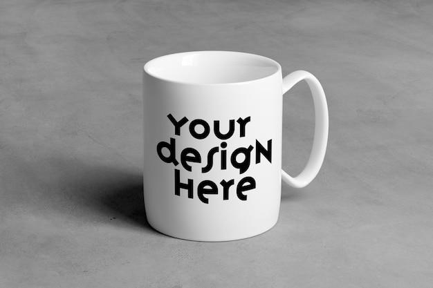 View of a mug mockup