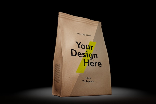View of a sachet packet with tear-away tab mockup